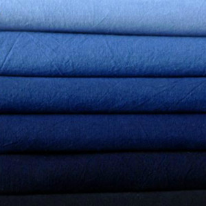 Navy Blue Cotton Fabric Plain