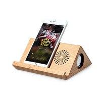 Pad Stojak Telefon Trzymać Solidne Drewniane wsparcie Przenośny Głośnik Bluetooth bezprzewodowy Głośnik Karty TF Odtwarzacz Górna Falante dla iphone 6 7