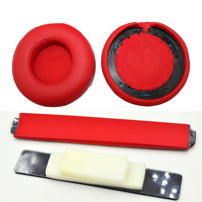 SHELKEE Replacement Headband Ear Pad Earpads Cushion Set For Beats by Dr. Dre Pro Detox Headphones Repair parts