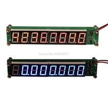 цена на 0.1-60MHz 20MHz-2.4GHz RF 8 Digit LED Singal Frequency Counter Cymometer Tester