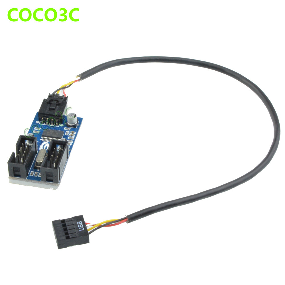 Aliexpress.com : Buy 9Pin USB header to Dual 9pin Female