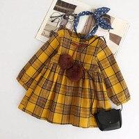 MUQGEW sukienka Dzieci Dziecko vestidos dziewczyny ubierają navidad boże narodzenie Ubrania Z Długim Rękawem Chusta Bowknot Party Sukienki Księżniczki