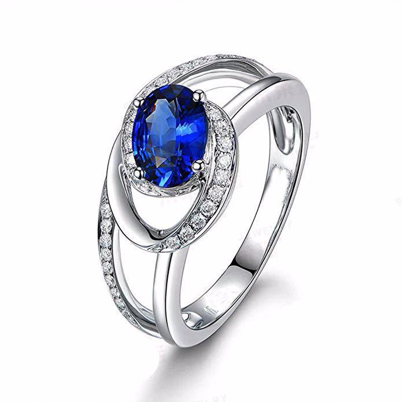 925 silver jewelry diamond rings Rose gold and silver costume crystal topaz Angel 39 s Eye Sapphire Zircon Ringen stainless B2414 in Rings from Jewelry amp Accessories