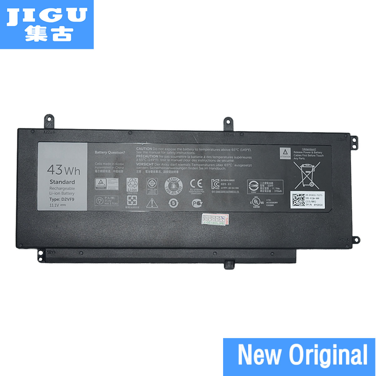 JGIU Original Laptop Battery 0PXR51 0YGR2V D2VF9 PXR51 For DELL For Inspiron 15 7547 7548 For Vostro 14 5000 5459