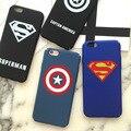 Hot superman capitão américa estrela azul de plástico rígido preto case para iphone 6 s 6 7 Plus 5 5S SE Casos de Cobertura Protetor Fundas Coque