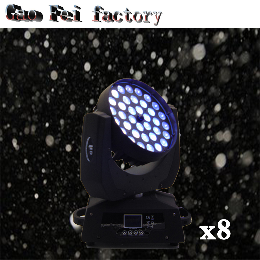 8pcslot moving head light 36x12w 0.2-16 timessecond 15-45 Linear zoom dmx512 for dj light from china movign head led effect