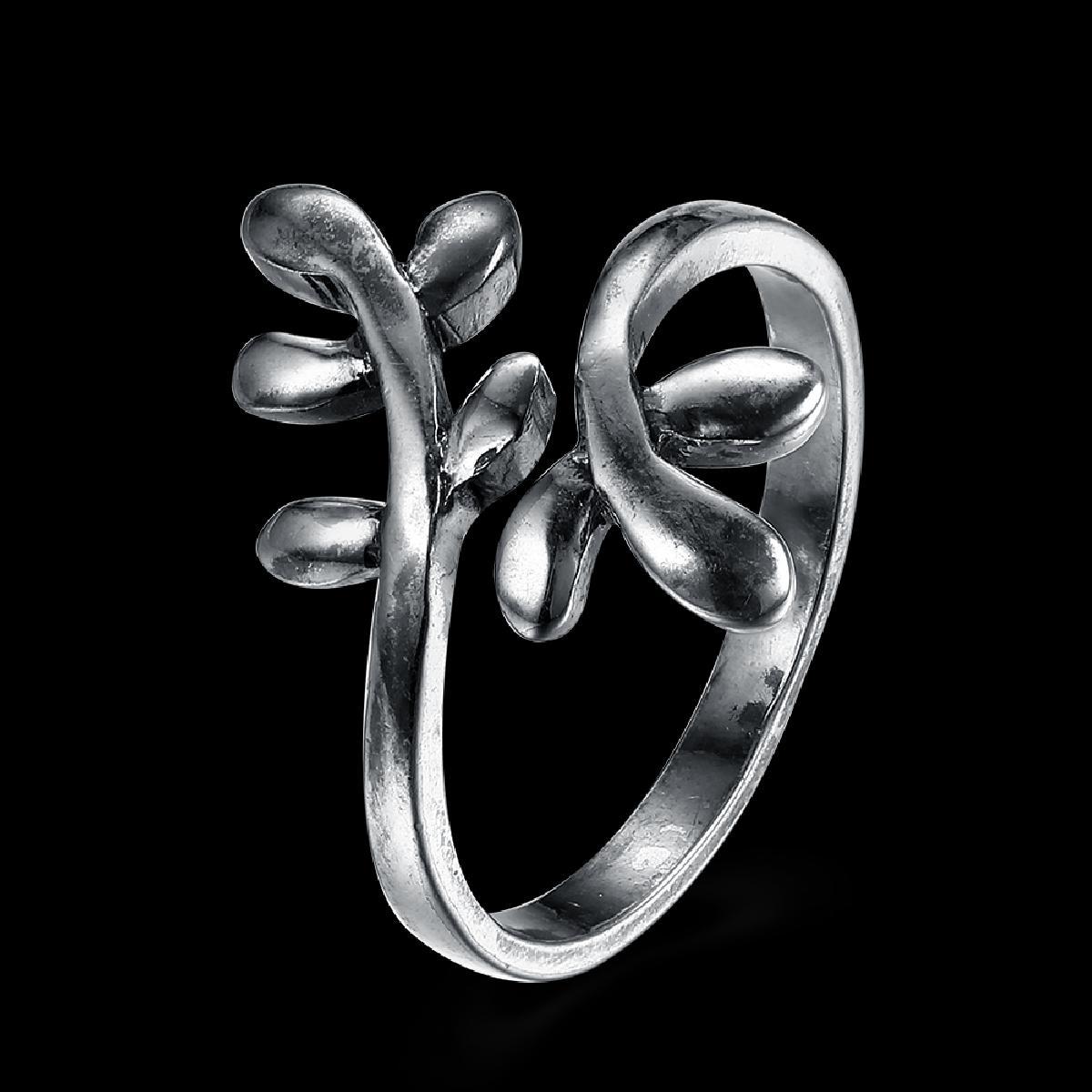 Kiteal Новинка! Нержавеющая сталь Размер 6 7 8 9 унисекс обручальное кольцо Древо жизни листьев покрытие серебро Bague Роковой Joyas