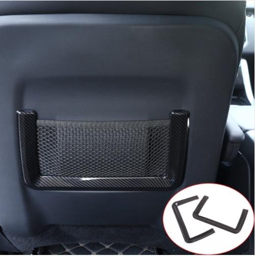 Pour Land Rover Discovery Sport 2015-2017 Style voiture en fibre de carbone Style ABS en plastique rangée arrière cadre de siège garniture accessoires Auto