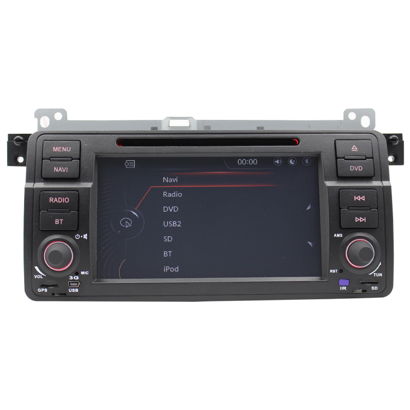 Wince 6.0 Multimedia Car DVD Player 3G For b M W E46 GPS Navi Steering Wheel Control Bluetooth Canbus Reversing Camera Free map