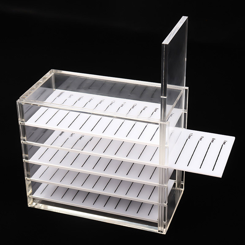 Eyelash Storage Box 5 Layers  Makeup Display Container Eyelashes Glue Pallet Holder Grafting Eyelash Transparent Box