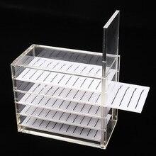 Eyelash Storage Box 5 Layers  Makeup Display Container Eyelashes Glue Pallet Holder Grafting Transparent