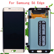 Gold Original For Samsung Galaxy S6 Edge LCD G925 G925A G952F G925F G925I G925P G925T LCD Touch Screen Digitizer Assembly