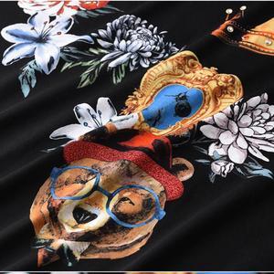 Image 5 - Minglu 100% Cotton Mens T shirts Luxury Diamond And Printing Round Collar Men T shirts Plus Size 4xl Slim Fit T shirts Man
