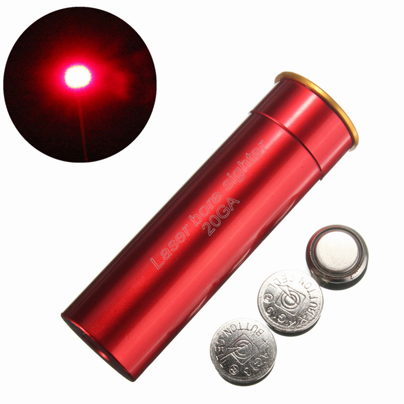 20GA Laser Sight Hunting Red Dot Lazer Sight 20 Gauge Cartridge Gun Hunting Laser BoreSight