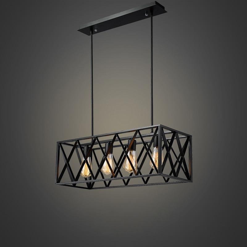 Промышленности ретро потолочный светильник гладить потолочный светильник для Гостиная Спальня E27 лампочки Гостиная лампы творческий Евро
