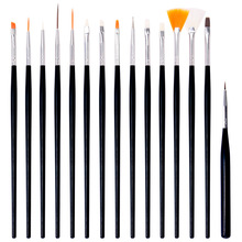 цена на 15Pcs/set  Nail Art Design Dotting Painting Drawing Pen Polish Brush Set UV Gel Nail Beauty Tool Kit