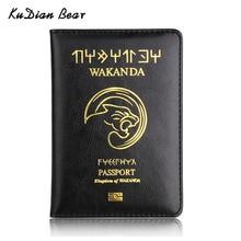 KUDIAN BEAR Leather Passport Cover Men Rfid Holder Minimalist Designer Travel Wallet for Documents BIH104PM49