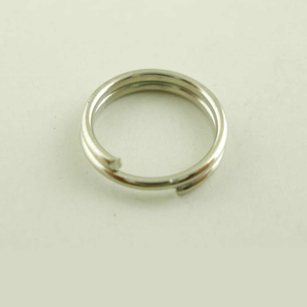 Doreen Box Lovely 500 PCs Silver Tone Double Loop Split Open Jump Rings 7mm Dia. (B03573)