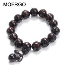 Lightning Wood Buddhism Prayer Beads Bracelets Om Mani Padme Hum Mantra Wooden Fish Tibetan Mala
