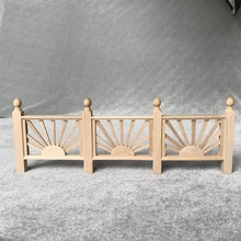 1:12 Mini Doll House Fence Wooden Garden Furniture Accessories for Kids Decoration