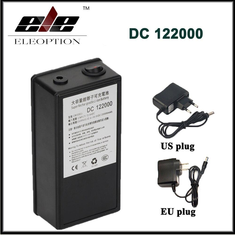 Batterie portative Rechargeable de lithium-ion de polymère de capacité élevée de cc 12 V 20000 mAh pour l'émetteur de caméra de télévision en circuit fermé avec la prise