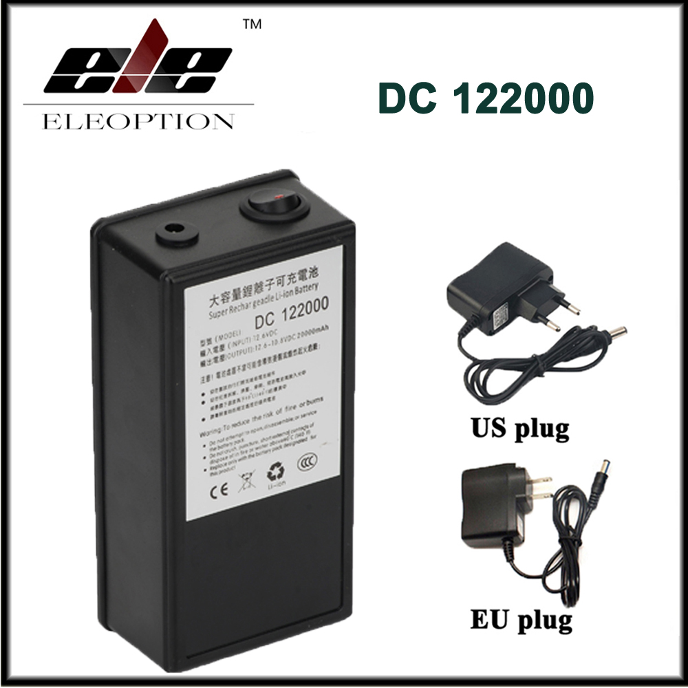 DC 12V 20000mAh High Capacity Polymer lithium-ion Rechargeable Portable Battery for CCTV Camera Transmitter with Plug