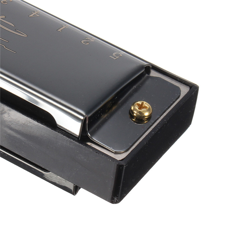 Harmonica 24 Holes Key of C with 48 reeds Black Silver Gold for Musical Instruments Harmonica Lovers Gifts Hot