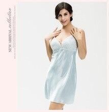 Ladies nightgown women nightwear sexy sleepwear nightgown lingerie sleepshirts sexy nightgowns sleeping dress blue pink