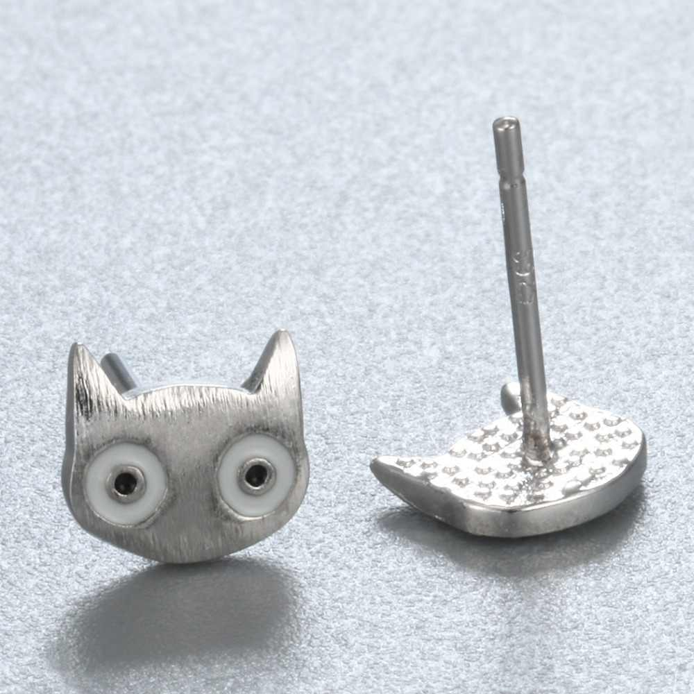 Chereda Elves Stud Earring Big Eye Small Face No Mouth Cute Ear For Girl Simple Jewelry Personal Unique Attractive Accessories