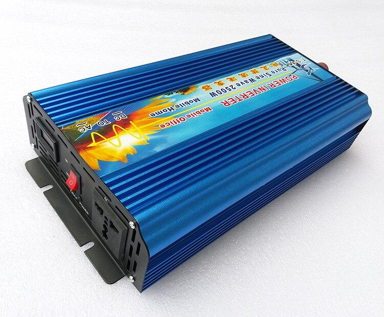 5000w Peak power inverter 2500W pure sine wave inverter 12V DC TO 220V/110V 50HZ/60HZ AC Pure Sine Wave Power Inverter