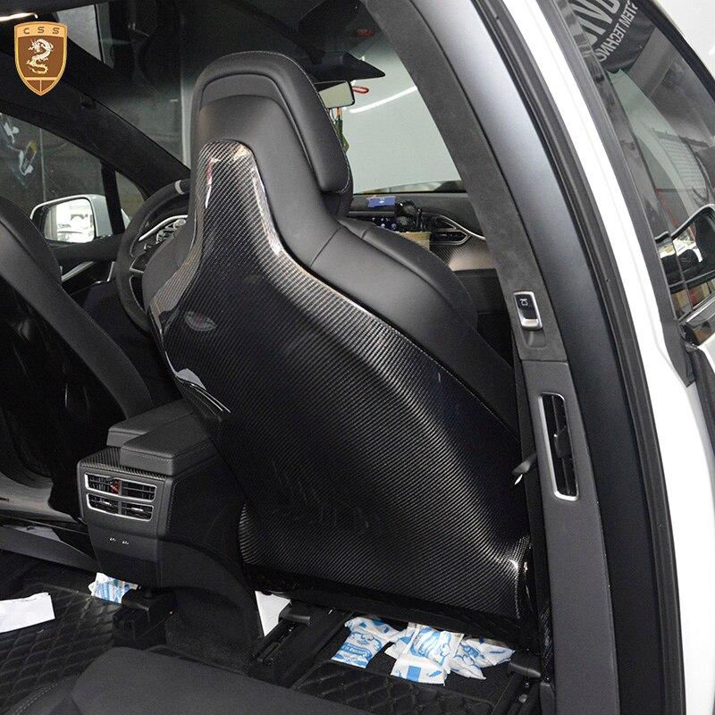 CSSYL высокое качество 2 шт./компл. полный сиденье из углеродного волокна задней обложки справа налево отделка сиденья для исполнения Seat для ...