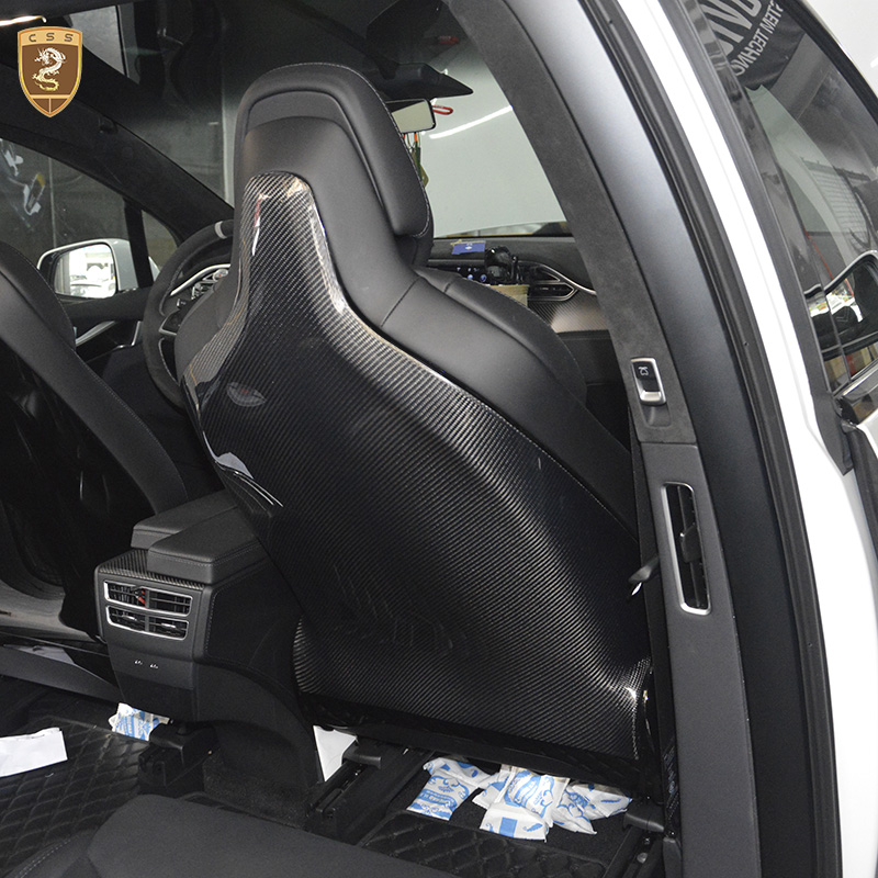CSSYL qualité supérieure 2 pcs/ensemble Full Carbon fibre Seat Covers Retour Droite Gauche Garniture De Siège Pour Siège De Performance Pour Tesla Modèle X