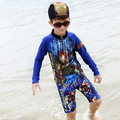 swimsuit fused trunks for baby boy clothes summer 2017 long sleeve swimsuit for kids boys swimming suits beachwear child