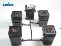 Aeroponics System 5x20L square bucket. Cloner bucket.