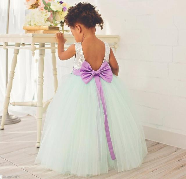 Cute sky blue tulle with silver sequined top sexy open back flower cute sky blue tulle with silver sequined top sexy open back flower girl dresses baby 1st mightylinksfo