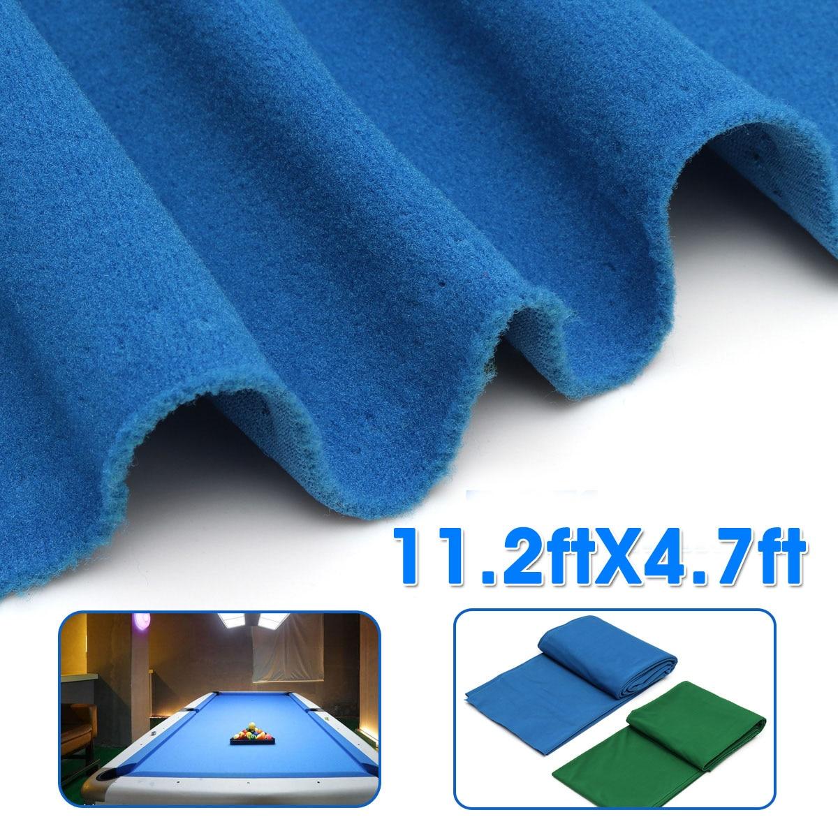 Green/Blue Snooker Billiard Cloth Pool Eight Ball Billiard Pool Table Cloth For American Billiard Snooker Accessories 11.2X4.7ft