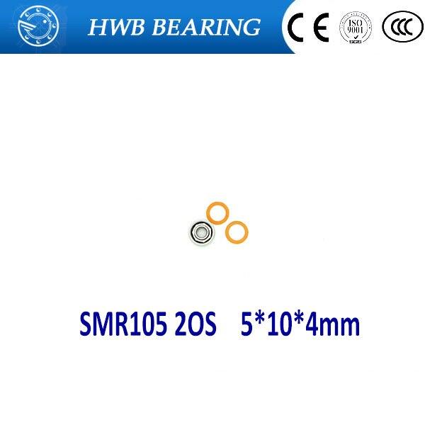 купить Free Shipping 1PC SMR105 2OS 5x10x4mm  Hybrid Ceramic Stainless Lube Dry Fishing Reel Bearing SMR105C 2OS A7 LD SMR105-2RS дешево