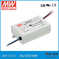 Originele MEAN GOED APV-35-12 36 W 3A 12 V voeding kleine size Meanwell Led drive APV-35 voor led-verlichting