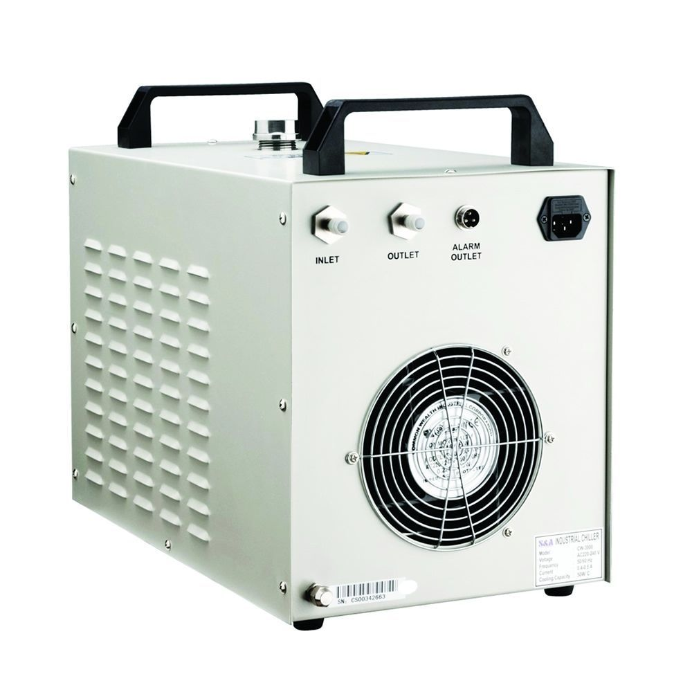 Nouveau CW3000 refroidisseur CNC/CO2 laser machine de découpe carré bon