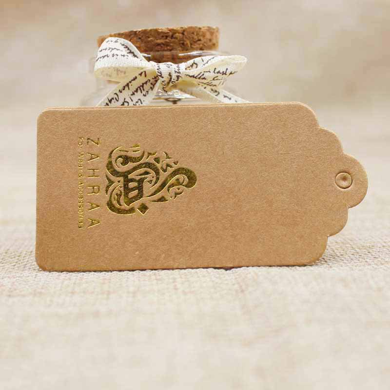 2018 hot sale new ZerongE jewelry Custom logo garment tag label gold printed personalized luggage hang label tag 1000pcs 4*8cm