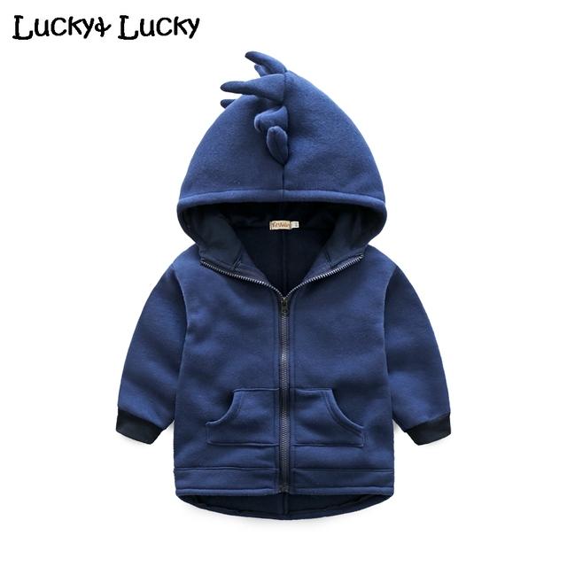 Nuevo dinosaurio bebé abrigo con capucha bebé chaqueta casaco infantil primavera y otoño ropa de bebé