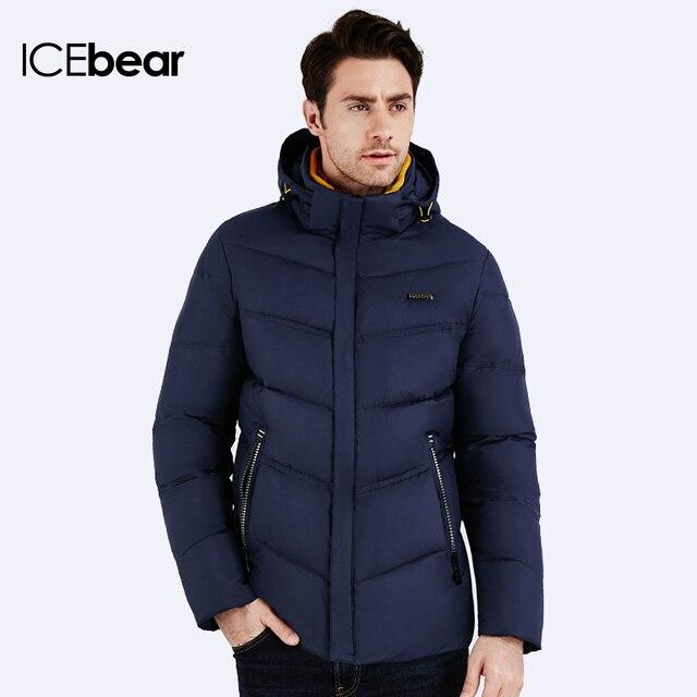 ICEbear 2016 Бренд-одежда Много Цветов Согреться Горячей Моды Куртки Толстая Куртка С Длинным Рукавом Мужчины Зимнее Пальто 16MD905
