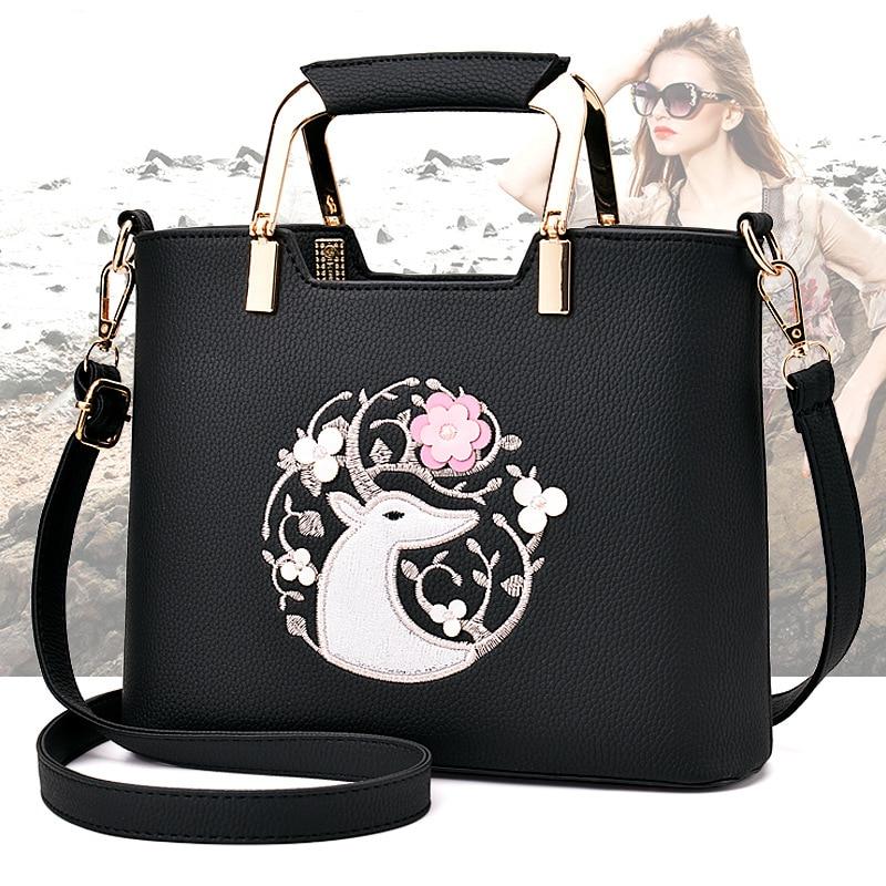 цены на Hot 2017 Fashion Designer Brand Women Pu Leather Handbags ladies Shoulder bags tote Bag female Retro Vintage Messenger Bag в интернет-магазинах