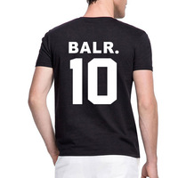BALR 10 Letter Print Women Men Tshirt Cotton Casual Funny T Shirt For Lady Girl Top
