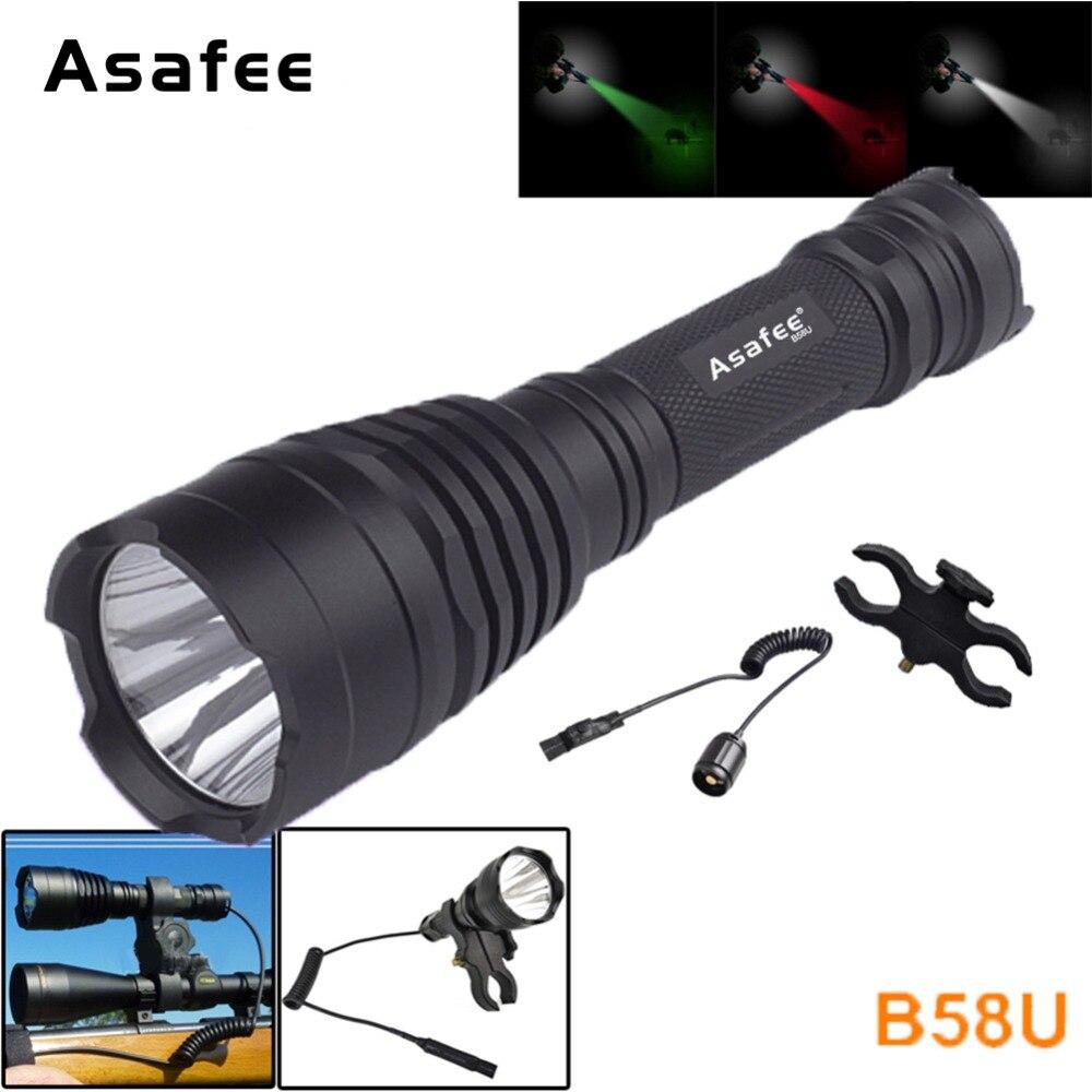 Asafee B58U Beste Jacht Zaklamp Zaklamp Waterdicht Cree XM-L2 LED - Draagbare verlichting