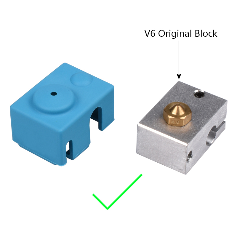 V6 Silicone Stock sock Support V6 Original J-head 1.75/3.0mm Bowden& direct Extruder RepRap For 3D printer parts stock 100