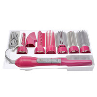 8 In 1 Professional Blow Hair Dryer With A Rotating Brush Comb Powerful Hairdryer Blow Dryer