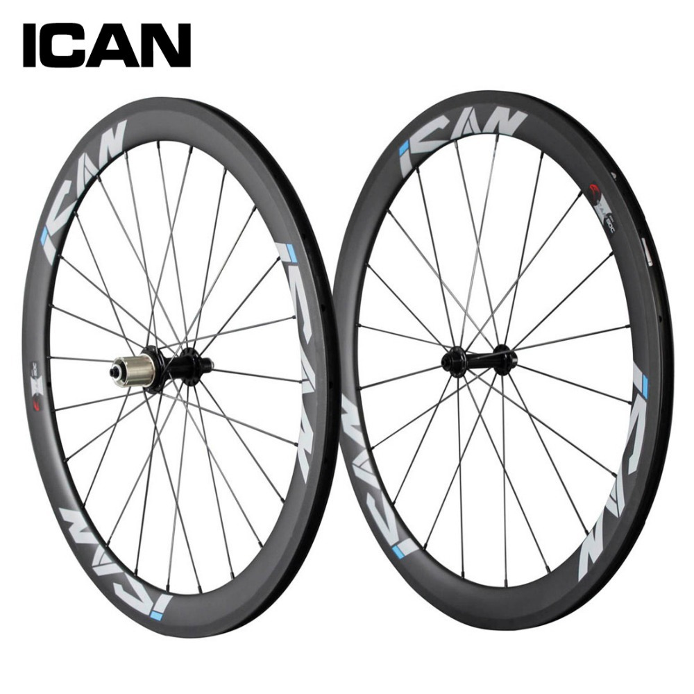 700C 50mm clincher carbon wheels 23mm width UD matt road bicycle wheels Powerway hubs Sapim CX-Ray spoeks carbon wheelset SP-50C цена