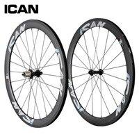 700C 50mm clincher carbon wheels 23mm width UD matt road bicycle wheels Powerway hubs Sapim CX Ray spoeks carbon wheelset SP 50C