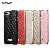 Luxus XOOMZ 5 Farben Quilten Diamant Super Weiche Lammfell Ledertasche Für iPhone7 8 Plus 5,5